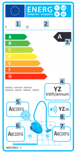 energeticky stitek vysavace