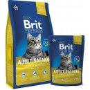 Krmivo pro kočky Brit adult Premium Granule losos 8 kg